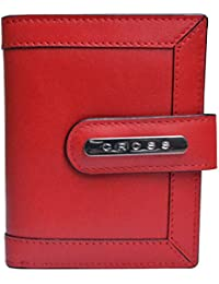 Cross® Women's 100% Genuine Leather Small Flap Wallet-Scarlet Red
