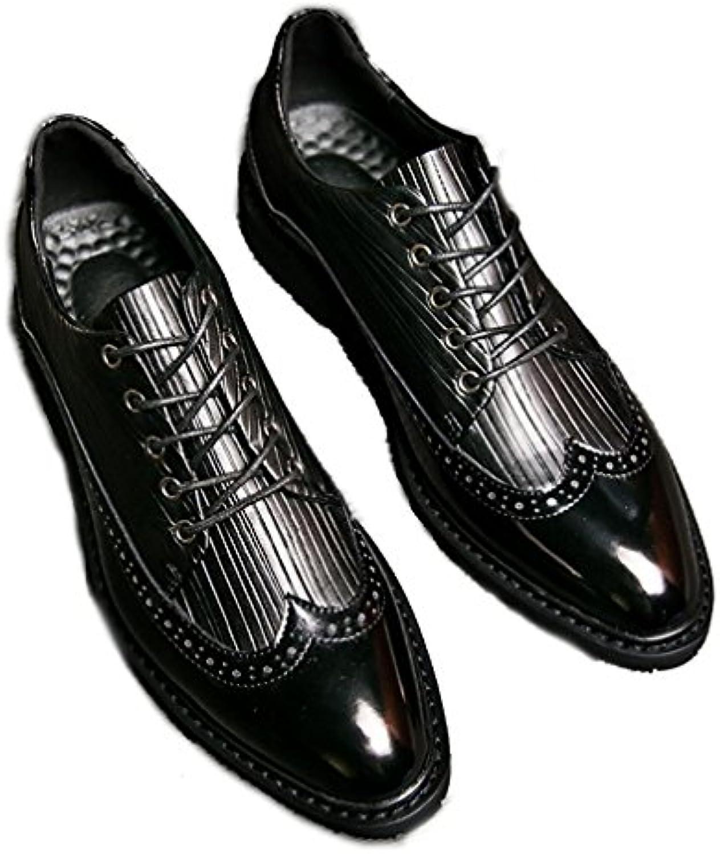 Xianshu Brogue Britischer Stil Schnüren Schuhe