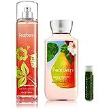 Bath & Body Works Pearberry Fine Fragrance Mist 8 Fl.oz/236 ML & Body Lotion 8 Fl.oz/236 ML With A Jarosa Bee...