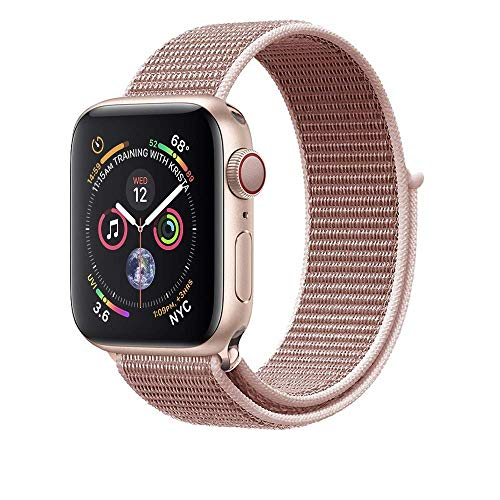 Corki für Apple Watch Armband 38mm 40mm, Weiches Nylon Ersatz Uhrenarmband für iWatch Apple Watch Series 4 (40mm), Series 3/ Series 2/ Series 1 (38mm), Rose Pink
