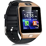MatLogix Bluetooth Smart Watch Phone With Camera And Sim Card Support With Apps Like Facebook And WhatsApp Touch Screen Multilanguage Android/IOS Mobile Phone Wrist Watch Phone With Activity Trackers And Fitness Band Features Compatible With Samsung IPhon