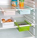 Bluelover Plastic Küche Kühlschrank Kühlschrank Gefrierschrank Storage Rack Shelf Halter Küchenorganisation Weiß - 3