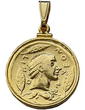 Als Gott Anhänger Apollon, Sonne und ihrem Panzer, 24 Karat vergoldete Kontakte