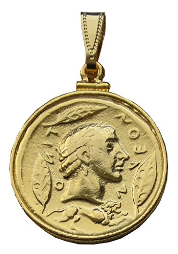 Envie Bijoux Als Gott Anhänger Apollon, Sonne und ihrem Panzer, 24 Karat vergoldete Kontakte