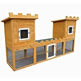 Kleintierstall Schloss mit Freigehege Kaninchenstall Hasenstall Käfig Hamster