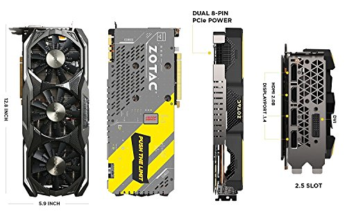 ZOTAC GeForce GTX 1070Ti 8GB AMP Extrem 8GB GDDR5 256 bit
