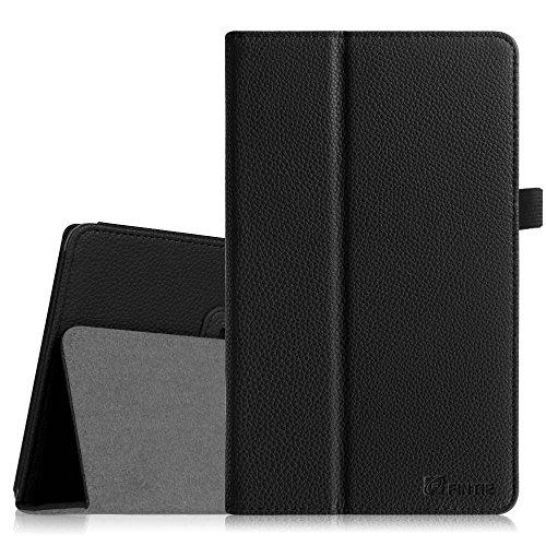 Fintie Asus ME181CX Folio Hülle Case - Slim Fit Schutzhülle Cover Tasche Etui für Asus ME181CX ProSieben Entertainment Pad 20,3 cm(8 Zoll) Tablet-PC (Asus MeMO Pad 8 ME181C), Schwarz