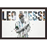 Mad Masters Lionel Messi 1 Piece Wooden Framed Painting |Wall Art | Home Décor | Painting Art | Unique Design | Attractive Frames