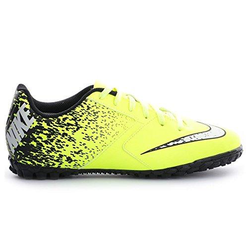 Nike Jr Bombax Tf, Chaussures de Foot Mixte Bébé Jaune - Amarillo (Volt / White-Black)