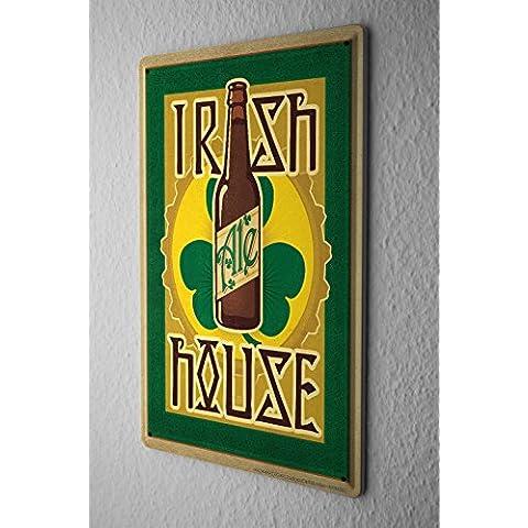 Birra Decorazione Nostalgica Cartello Targa In Metallo Irish Beer Ale House Clover Piatto Da Muro 20X30 cm - Irish Ale