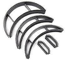Chanderkash Set of 5 Hair Bumpit Puff Hair Accessory Set (Black)