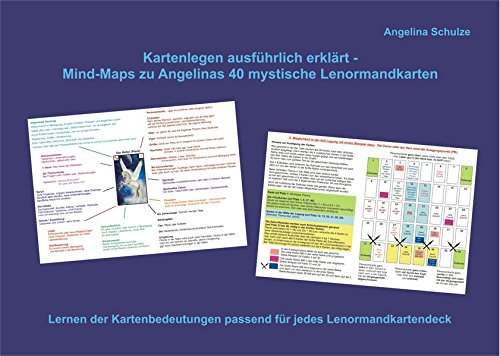 Kartenlegen ausführlich erklärt - Mind-Maps zu Angelinas 40 mystische Lenormandkarten: Lernen der Kartenbedeutungen passend für jedes Lenormandkartendeck