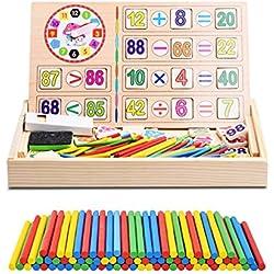 Recuento de Juguetes de Bebé Matemáticas Juguetes de Caja Madera de Operación Digital de Dibujo Bloques Educativos Regalo de Cumpleaños Niño Aprendizaje Preescolar Aritmética