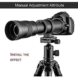 Dailyinshop 420-800mm f / 8.3-16 Téléobjectif pour Nikon DSLR D7200 D5300 D5200 D3300 D3200