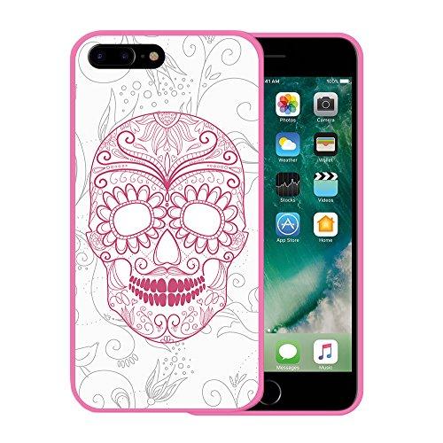 iPhone 7 Plus Hülle, WoowCase Handyhülle Silikon für [ iPhone 7 Plus ] Roma Itallien Symbole Handytasche Handy Cover Case Schutzhülle Flexible TPU - Schwarz Housse Gel iPhone 7 Plus Rosa D0490
