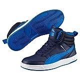 Puma Unisex-Kinder Rebound Street V2 FUR JR Hohe Sneaker, Blau (Peacoat-Strong Blue White 05), 37 EU