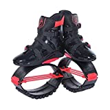 Fitness Jump Shoes Kangoo Jumps Botas Gravedad Rebote Peso Carga Rango 154~242 LB,Red,XXL