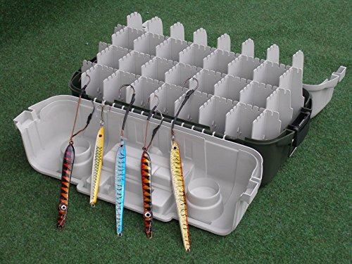 Lineaeffe Angelkoffer -Set mit 5 Pilker Verschiedene Farben und Größen