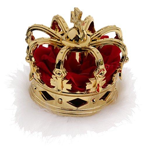 Gazechimp Mini Königin Krone Tiara Hut Kostüm für Kanavel Party Zubehör - Gold (Krone Gold Kostüm)