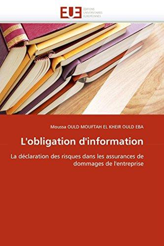 L''obligation d''information