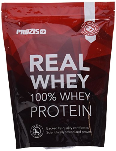 Prozis 100% pure real whey protein in polvere 1kg - integratore al gusto cioccolato ricco di bcaa per crescita e recupero muscolare massimi - ideale per culturisti