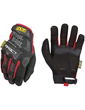Mechanix Wear MPT-52-009 Guantes, Negro/Rojo, Medium