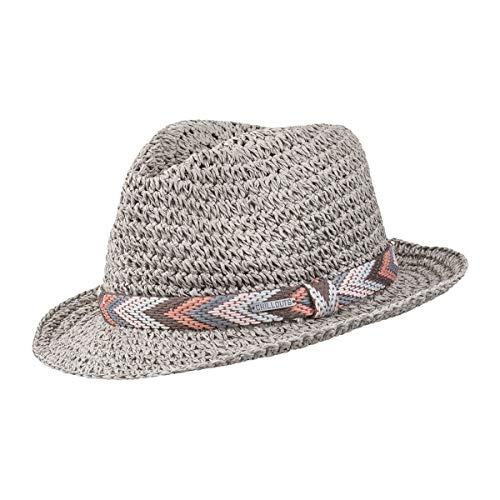 CHILLOUTS Medellin Hat in Grau XS | Damen Hut | Fedora Trilby Knautsch Strohhut
