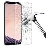 Samsung Galaxy S8Protection d'écran, protection écran en verre trempé mopalwin bulle libre, anti Lifting, couverture complète, film de protection d'écran pour Galaxy S8–Transparent