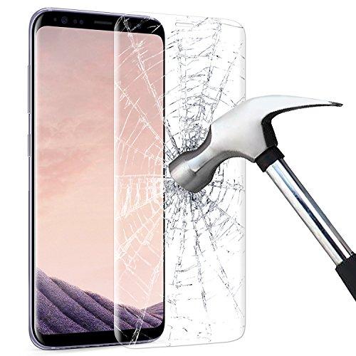 KKtick Galaxy S8 Schutzfolie, Samsung Galaxy S8 HD Displayschutzfolie [Mit Hülle] Folie [Blasenfreie] Panzerglas Folie für Samsung Galaxy S8 (Transparent)