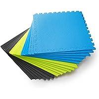 #DoYourFitness Schutzmatten Set 6 Puzzlematten 6 Steckelementen á 60 x 60 x 1,2 cm (ca. 2,2m²) - Unterlegmatten/sicherer Bodenschutz für Sportgeräte, Gymnastikräume, Keller