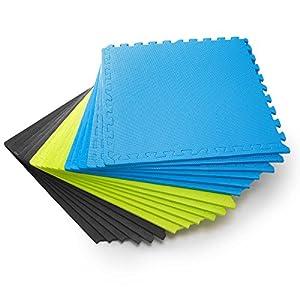 #DoYourFitness Schutzmatten Set 6 Puzzlematten 6 Steckelementen á 60 x 60 x 1,2 cm (ca. 2,2m²) – Unterlegmatten/sicherer Bodenschutz für Sportgeräte, Gymnastikräume, Keller