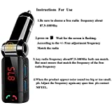 3Keys High Performance Digital Wireless Bluetooth FM Transmitter Fm Radio Stereo Adapter Bluetooth Car Charger With Handsfree Calling And 2 USB Charging Ports (5V 2.1A) Black