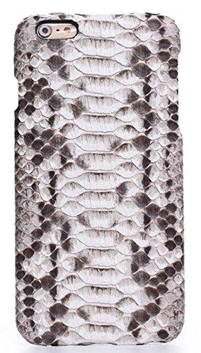 Minifamily® Weiß Echtes Python Schlange Haut Leder Telefon Schutz Muschel Etui Schale für Apple iPhone 6/6s / 6 Plus 5,5 Zoll / iPhone 7/7 Plus (iPhone 7 4,7 Zoll) -
