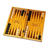 Atilla Tavla Tavla Spiel 2in1 - Klassisch aus Buchenholz - Türkisches Backgammon 42,5x42,5cm