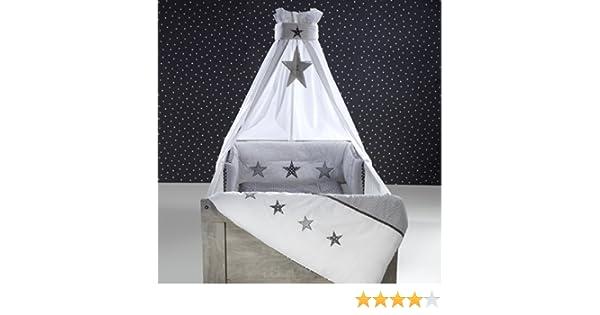 Schardt Himmelset//Bettset 4-teilig Stern grau NEU