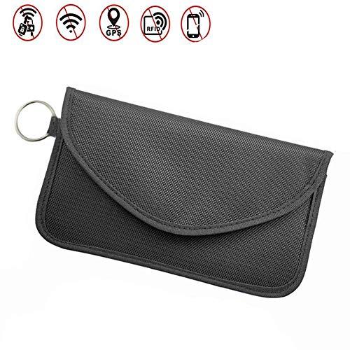 ZOORE Keyless Go Schutz Autoschlüssel Groß, Funkschlüssel Key and Smartphone Safe Strahlenschutz Tasche. Auto Signal Abschirmung, Verhindern Sie den Diebstahl Ihres Autos, RFID/NFC/WLAN/GSM/Blocker.