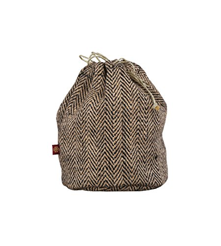 RishteyBags Ishita2 ChocolatebrownHerringbone Medium Gift Bag  available at amazon for Rs.99