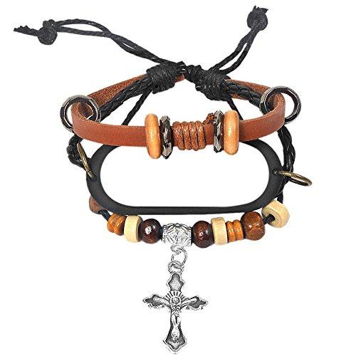 Millet Mi Band 3Smart Armband stricken Gravur Kreuz Perlen Armband-beliebtes Fashion Perlen-Armband mit Ersatz Armband Stil Ersatz-Gurt Armband