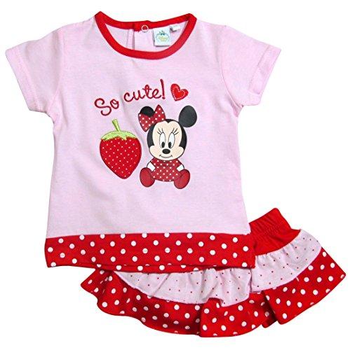 ion 2017 T-Shirt und Rock 68 74 80 86 92 Shirt Rock mit eingenähtem Schlüpfer Mädchen Neu Top Maus Set Rosa (74 - 80, Rosa) (Hello Kitty Baby-artikel)