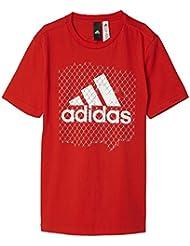 adidas Bos Logo Camiseta, Niños, Rojo (Rojbas), 164