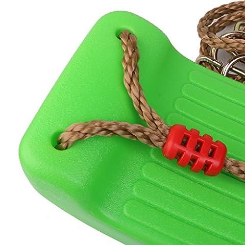 Gazechimp Balançoire en Plastique Siège avec Corde Porteurs 150KG- Vert