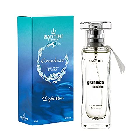 Gradenza Light Blue Eau de Parfum By Santini Cosmetics - Women's Summer Frangance with Top Light Floral Scent and Citrus Fruits -