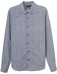 Nautica Print Shirt, Camisa Casual Para Hombre