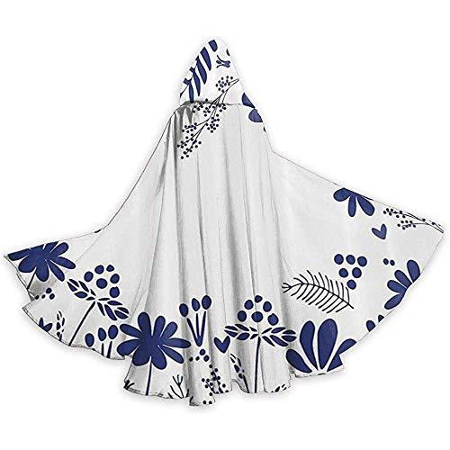 Mitta Yane Hooded Cape Kostüm Ganzkörperansicht Pflanze Schönheit Farn Blühende Sträucher Kapuzenkostüme