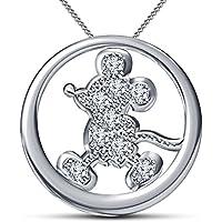 Fashion Vorra platinato in argento Sterling 925, Ispirato ai cartoni