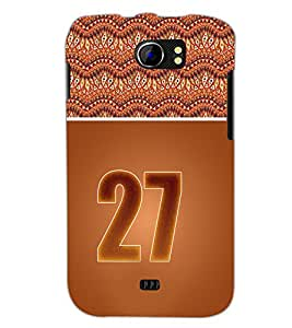 PrintDhaba Numerology Number 27 D-3662 Back Case Cover for MICROMAX A110Q CANVAS 2 PLUS (Multi-Coloured)