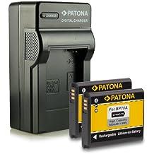 Bundle - 4en1 Cargador + 2x Batería EA-BP70A / EA-BPP70A para Samsung Digimax AQ100 | DV150F | ES65 | ES67 | ES70 | ES71 | ES73 | ES74 | ES75 | ES78 | ES80 | ES81 | ES90 | ES91 | PL20 | PL21 | PL80 | PL81 | PL90 | PL91 | PL100 | PL101 | PL120 | PL121 | PL170 | PL171 | PL200 | PL201 | SL50 | SL600 | SL605 | SL630 | ST30 mucho más…