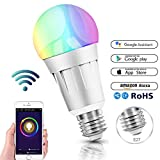 Smart Alexa Lampen, Wifi LED Alexa Glühbirne, RGB Dimmbar Hue Color Ambiance E27 Smart Birne...