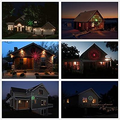 Salcar LED Lichteffekt Dekoration, innen/außen IP65 LED Projektor