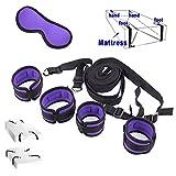 Kit per sistemi di ritenuta del letto - Cinghie di grado medico con polsini e polsini confortevoli per polsini di quasi tutte le dimensioni, inclusa maschera per gli occhi inclusa